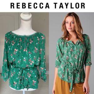 Rebecca Taylor Silk Nouveau Waist Blouse